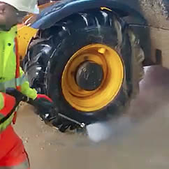 Construction Site Jet Washer Hire